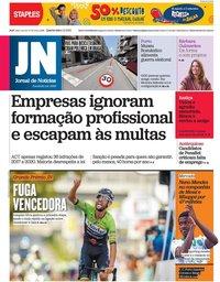 capa Jornal de Notícias de 1 setembro 2021
