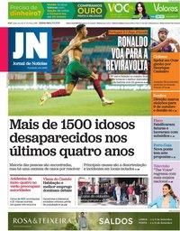 capa Jornal de Notícias de 2 setembro 2021