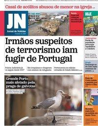 capa Jornal de Notícias de 3 setembro 2021