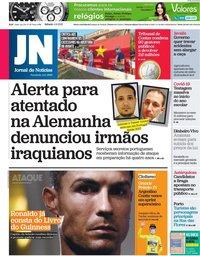 capa Jornal de Notícias de 4 setembro 2021