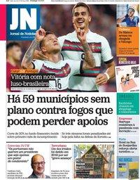 capa Jornal de Notícias de 5 setembro 2021