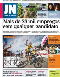 capa Jornal de Notícias de 6 setembro 2021