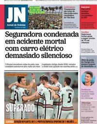 capa Jornal de Notícias de 8 setembro 2021