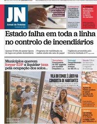 capa Jornal de Notícias de 9 setembro 2021