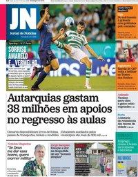 capa Jornal de Notícias de 12 setembro 2021