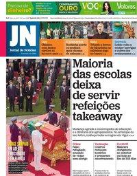 capa Jornal de Notícias de 13 setembro 2021