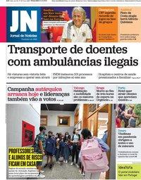 capa Jornal de Notícias de 14 setembro 2021