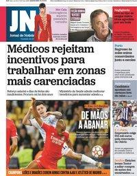 capa Jornal de Notícias de 15 setembro 2021