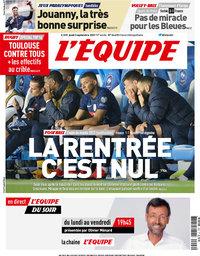 capa Jornal L'Équipe de 2 setembro 2021