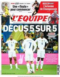 capa Jornal L'Équipe de 5 setembro 2021