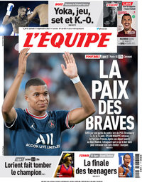 capa Jornal L'Équipe de 11 setembro 2021