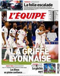 capa Jornal L'Équipe de 13 setembro 2021