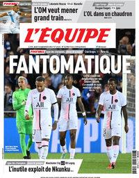capa Jornal L'Équipe de 16 setembro 2021