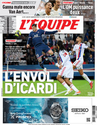 capa Jornal L'Équipe de 20 setembro 2021