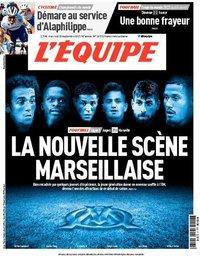 capa Jornal L'Équipe de 22 setembro 2021