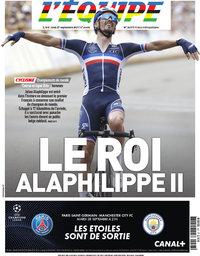 capa Jornal L'Équipe de 27 setembro 2021
