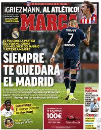 capa Jornal Marca de 1 setembro 2021
