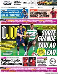 capa Jornal O Jogo de 1 setembro 2021
