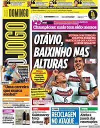 capa Jornal O Jogo de 5 setembro 2021