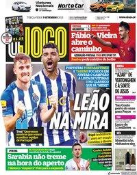 capa Jornal O Jogo de 7 setembro 2021