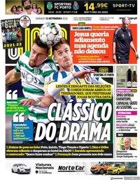 capa Jornal O Jogo de 11 setembro 2021