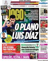 capa Jornal O Jogo de 13 setembro 2021
