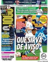 capa Jornal O Jogo de 15 setembro 2021