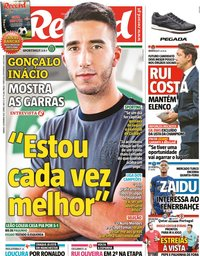 capa Jornal Record de 4 setembro 2021