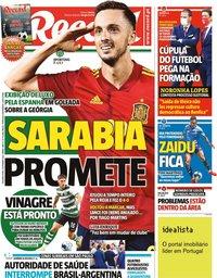 capa Jornal Record de 6 setembro 2021