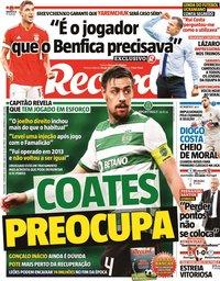 capa Jornal Record de 7 setembro 2021