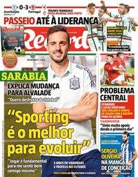 capa Jornal Record de 8 setembro 2021