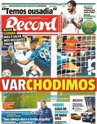 capa Jornal Record de 15 setembro 2021
