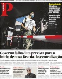 capa Público de 1 setembro 2021