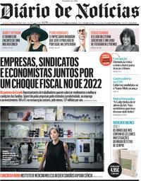 capa Diário de Notícias de 2 outubro 2021