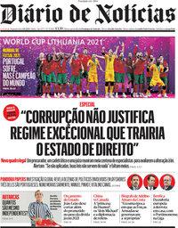 capa Diário de Notícias de 4 outubro 2021