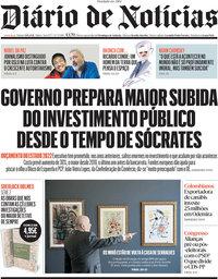capa Diário de Notícias de 9 outubro 2021
