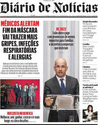 capa Diário de Notícias de 11 outubro 2021