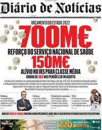 capa Diário de Notícias de 12 outubro 2021