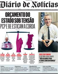 capa Diário de Notícias de 13 outubro 2021