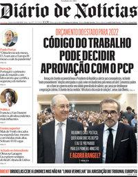 capa Diário de Notícias de 14 outubro 2021