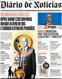 capa Diário de Notícias de 16 outubro 2021