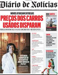 capa Diário de Notícias de 17 outubro 2021