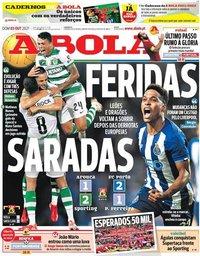 capa Jornal A Bola de 3 outubro 2021