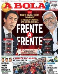 capa Jornal A Bola de 5 outubro 2021