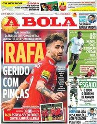 capa Jornal A Bola de 6 outubro 2021