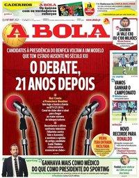 capa Jornal A Bola de 7 outubro 2021