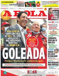 capa Jornal A Bola de 10 outubro 2021
