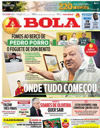 capa Jornal A Bola de 12 outubro 2021
