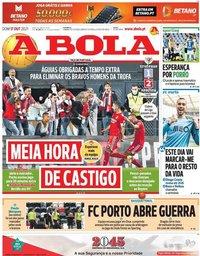 capa Jornal A Bola de 17 outubro 2021