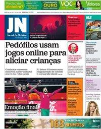 capa Jornal de Notícias de 1 outubro 2021